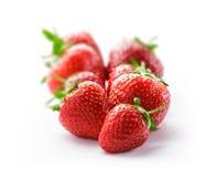 Groupe de fraise sur le blanc Photographie stock