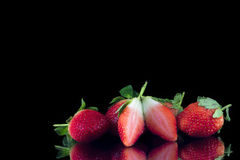 Groupe de fraises Photo stock