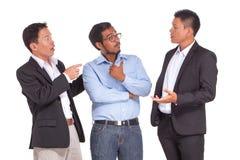 groupe de gens d'affaires, d'isolement sur le blanc travail d'équipe d'isolement par illustration noire du concept 3d Photographie stock libre de droits