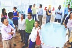 Groupe de gens d'affaires dans le concept de bureau Image libre de droits