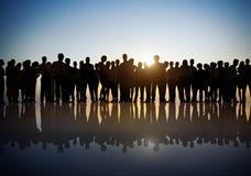 Groupe de gens d'affaires dans le Lit arrière Image libre de droits