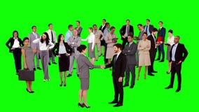 Groupe de gens d'affaires de se réunir banque de vidéos