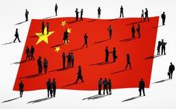 Groupe de gens d'affaires globaux : Chine Photographie stock libre de droits