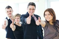 Groupe de gens d'affaires heureux Photo stock