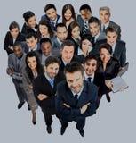 Groupe de gens d'affaires D'isolement au-dessus du fond blanc Images libres de droits