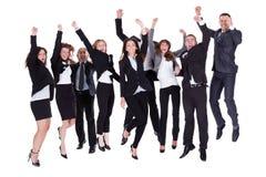 Groupe de gens d'affaires radieux photo libre de droits