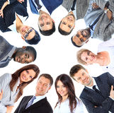 Groupe de gens d'affaires se tenant dans le petit groupe Photos stock