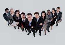 Groupe de gens d'affaires de sourire Équipe d'homme d'affaires et de femme Photos stock