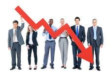 Groupe de gens d'affaires sur la crise économique Images libres de droits