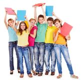 Groupe de gens de l'adolescence. Images libres de droits