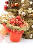 Groupe de globes de Noël Photographie stock