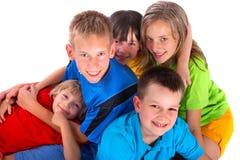Groupe de gosses heureux Image libre de droits