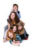 Groupe de gosses mignons et heureux Photographie stock libre de droits