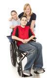 Groupe de gosses - un handicapé Photos libres de droits