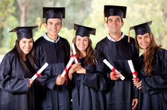 Groupe de graduation Photographie stock