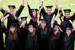 Groupe de graduation Photographie stock libre de droits