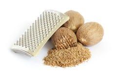 Groupe de graines de noix de muscade image libre de droits