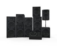 Groupe de haut-parleurs Image stock