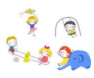 Groupe de jeu d'enfants illustration stock