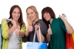 Groupe de jeunes femmes avec des paniers Photo stock