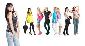 Groupe de jeunes filles Photo stock