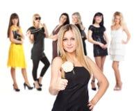 Groupe de jeunes filles Image libre de droits