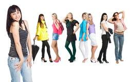 Groupe de jeunes filles Photos libres de droits