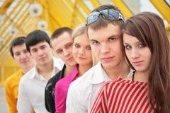 Groupe de jeunes sérieux Photos stock