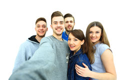 Groupe de jeunes étudiants heureux d'adolescent Photographie stock libre de droits