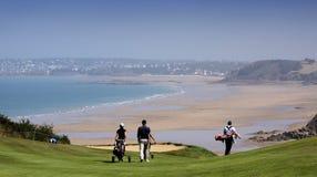 Groupe de joueurs au défi 2013 de golf de Pleneuf Val Andre Photographie stock libre de droits