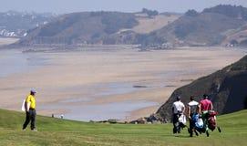 Groupe de joueurs au défi 2013 de golf de Pleneuf Val Andre Photographie stock