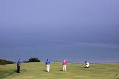 Groupe de joueurs au défi 2013 de golf de Pleneuf Val Andre Images stock