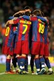 Groupe de joueurs de FC Barcelone Images libres de droits