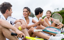 Groupe de joueurs de tennis Photo stock