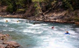 Groupe de kayak images libres de droits