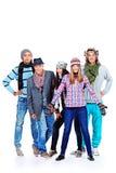 Groupe de l'hiver Image libre de droits