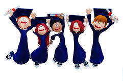 groupe de la graduation 3D Photos stock