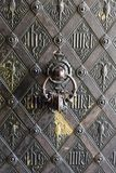 Groupe de la porte en bronze images libres de droits