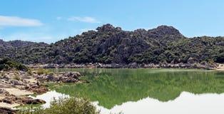 Groupe de lac Coghinas Photographie stock libre de droits