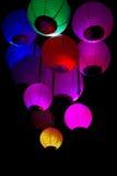 Groupe de lampions colorés Photo libre de droits