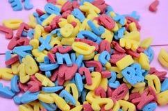 Groupe de lettres colorées de sucre Image stock