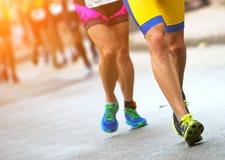 Groupe de marathoniens Images stock