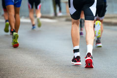Groupe de marathoniens Photos stock