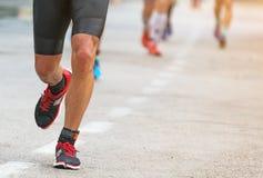 Groupe de marathoniens Photographie stock