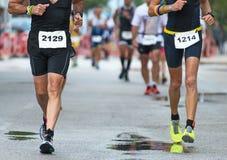Groupe de marathoniens Image libre de droits