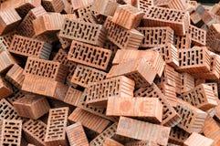 Groupe de matériaux de construction carrés de briques photographie stock