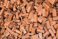 Groupe de matériaux de construction carrés de briques briques texture et résumé dans la vignette pour l'espace de fond ou de copi photos stock