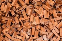 Groupe de matériaux de construction carrés de briques briques texture et résumé dans la vignette pour l'espace de fond ou de copi photographie stock libre de droits