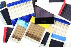 Groupe de Matchbooks. Photographie stock