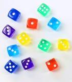 Groupe de matrices en plastique colorées Image stock